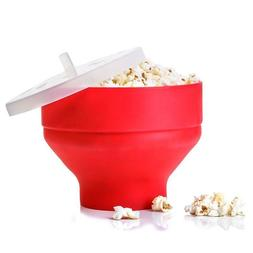 High Quality Popcorn Maker DlY Collapsible Silicone Microwav