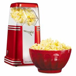 Hot Air Popcorn Maker 8-Cup Nostalgia Oil-Free Popping Home