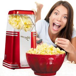 Hot Air Popcorn Maker 8-Cup Oil-Free Home Popping Kitchen Mo