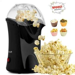 Hot Air Popcorn Popper With Wide Mouth Design,1200W 60Hz bla