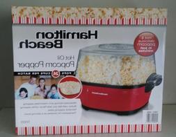 Hamilton Beach Hot Oil Popcorn Popper 24 cups Butter Well St