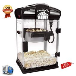 Hot Oil Popcorn Popper Machine Movie Theater Style With Nons