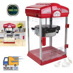 Hot Oil Popcorn Popper Machine Movie Theater Style 4Quarts