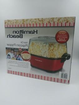 hot oil popcorn popper pops 24 cups