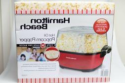 Hamilton Beach Hot Oil Popcorn Popper - Red 73302 Brand New