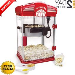 Hot Oil Theater Style Popcorn Popper Machine Offers Nonstick