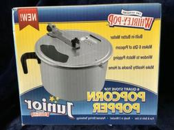 Whirley Pop Jr. Popcorn Popper Family Size See-Thru & Vented