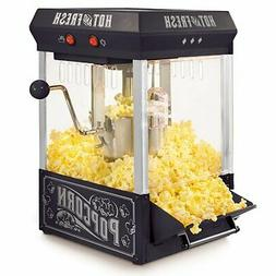 Nostalgia KPM200BK Tabletop Kettle Popcorn Maker, 2.5-Ounce,