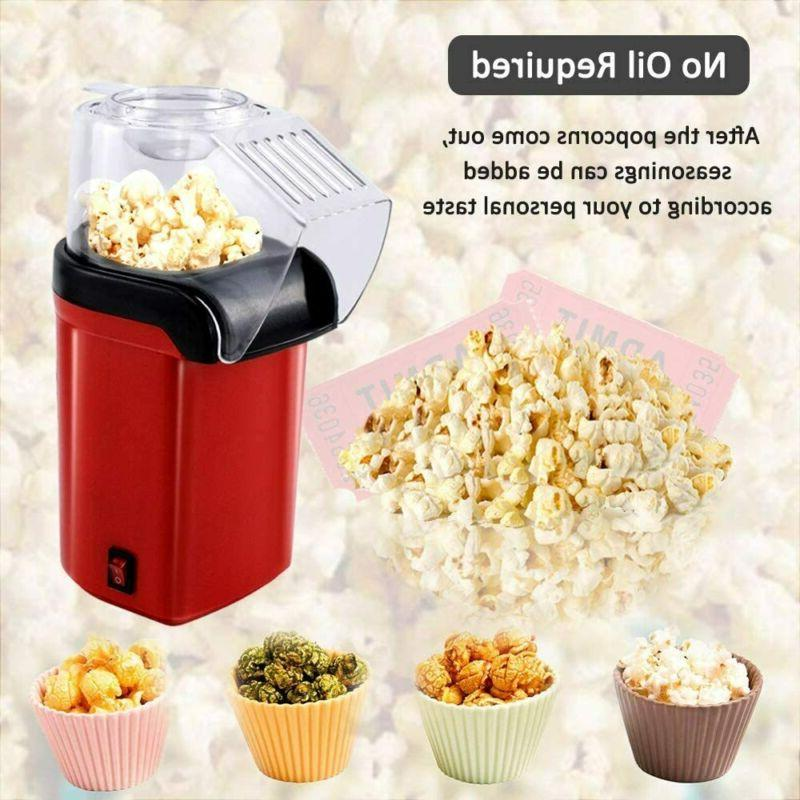 Hot Popcorn Popper Fast Maker Machine Healthy Measuring Cup Removable Lid