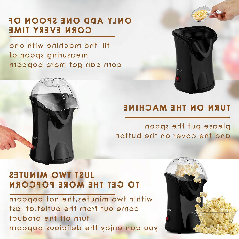 1200W Hot Air Popcorn Maker Popper No Measuring