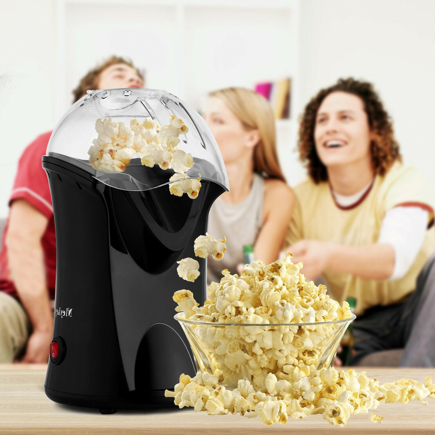 1200W Hot Popcorn Maker Machine No Oil Needed Measuring Cup