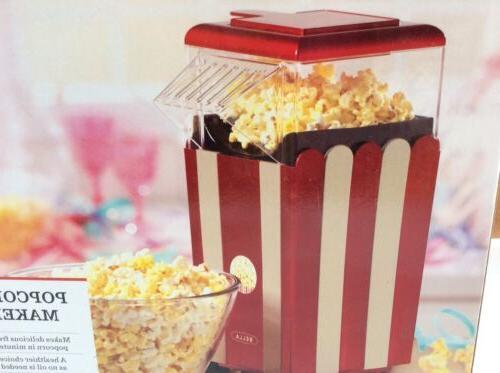 BELLA 13554 Air Popcorn Maker, White...NEW!