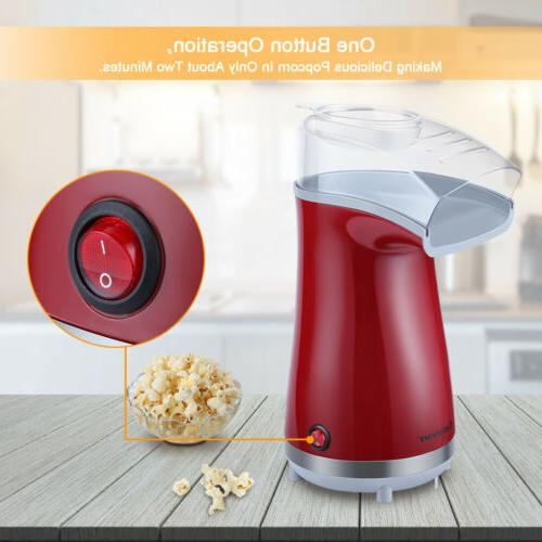 16-Cup Air Pop Popcorn Machine Home Party Snack w/Measuring Cup