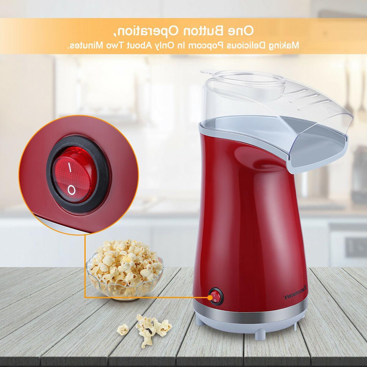 16 Air-Pop Popcorn Maker Makes w/ Measuring Home Snack