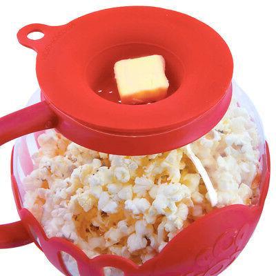 2pk Ecolution Glass Popcorn Maker Dishwasher Safe