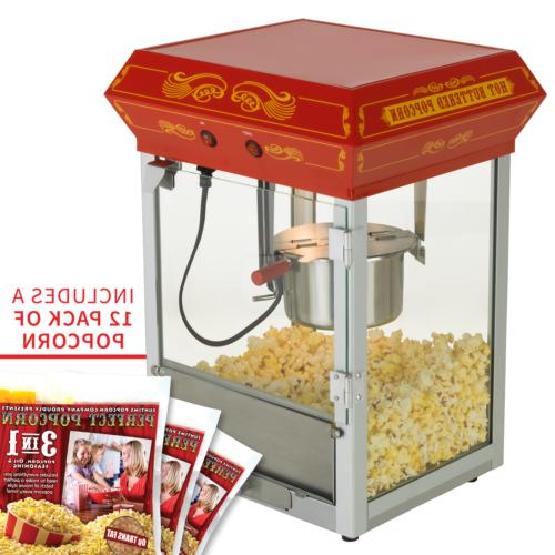 4oz theater style tabletop popcorn popper machine