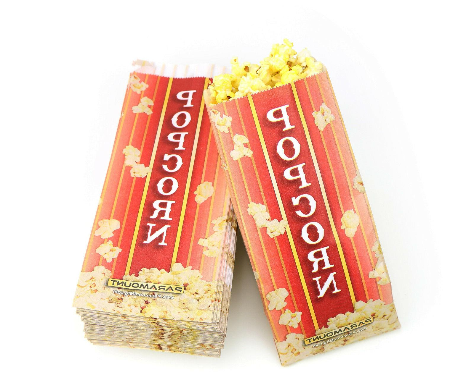 500 popcorn serving bags pinch bottom paper