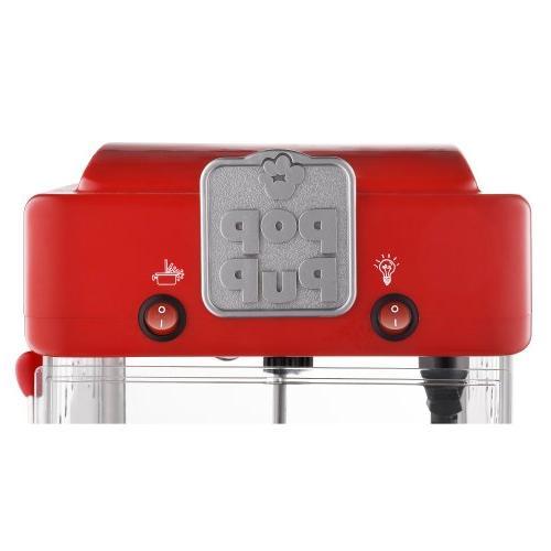 6074 Great Popcorn Machine Style Popper,