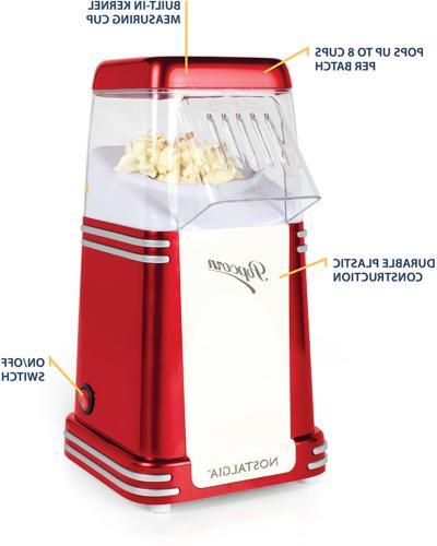 Nostalgia 8-Cup Hot Popcorn Maker Popcorn