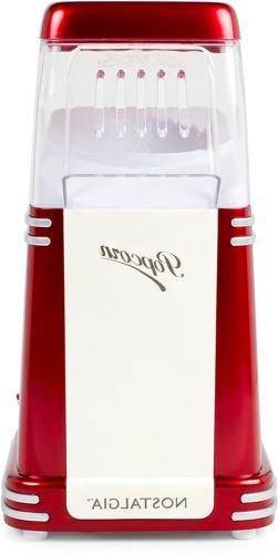 Nostalgia 8-Cup Air Popcorn Maker Countertop Popcorn Machine