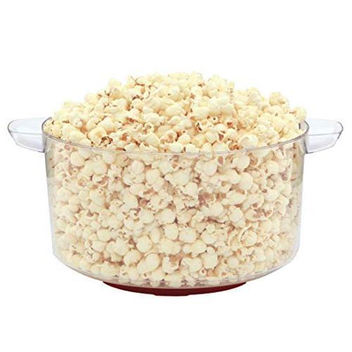 West Bend 82505 Stir Crazy Hot Popcorn Stirring and Convenient Storage, Red