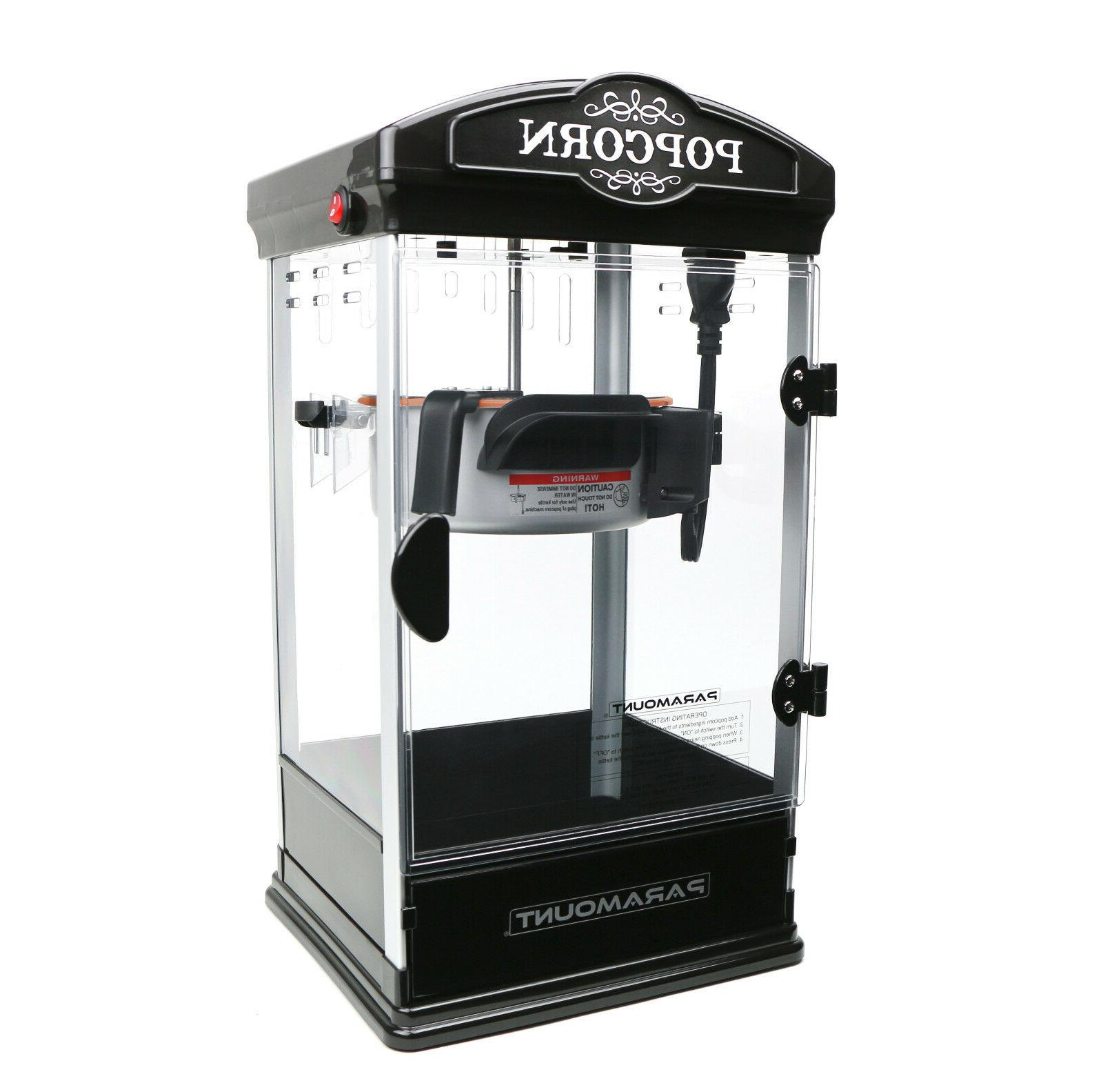 8oz Black Popcorn Maker Machine Paramount New Theater Popper
