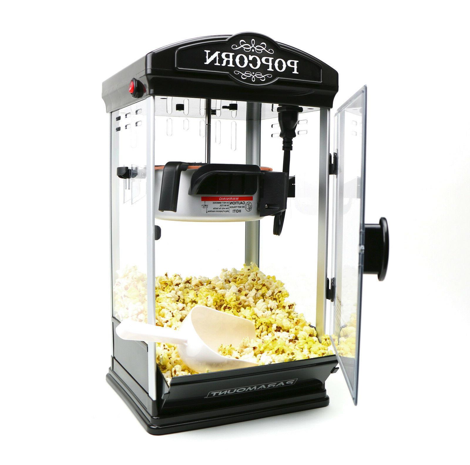 8oz black popcorn maker machine by new
