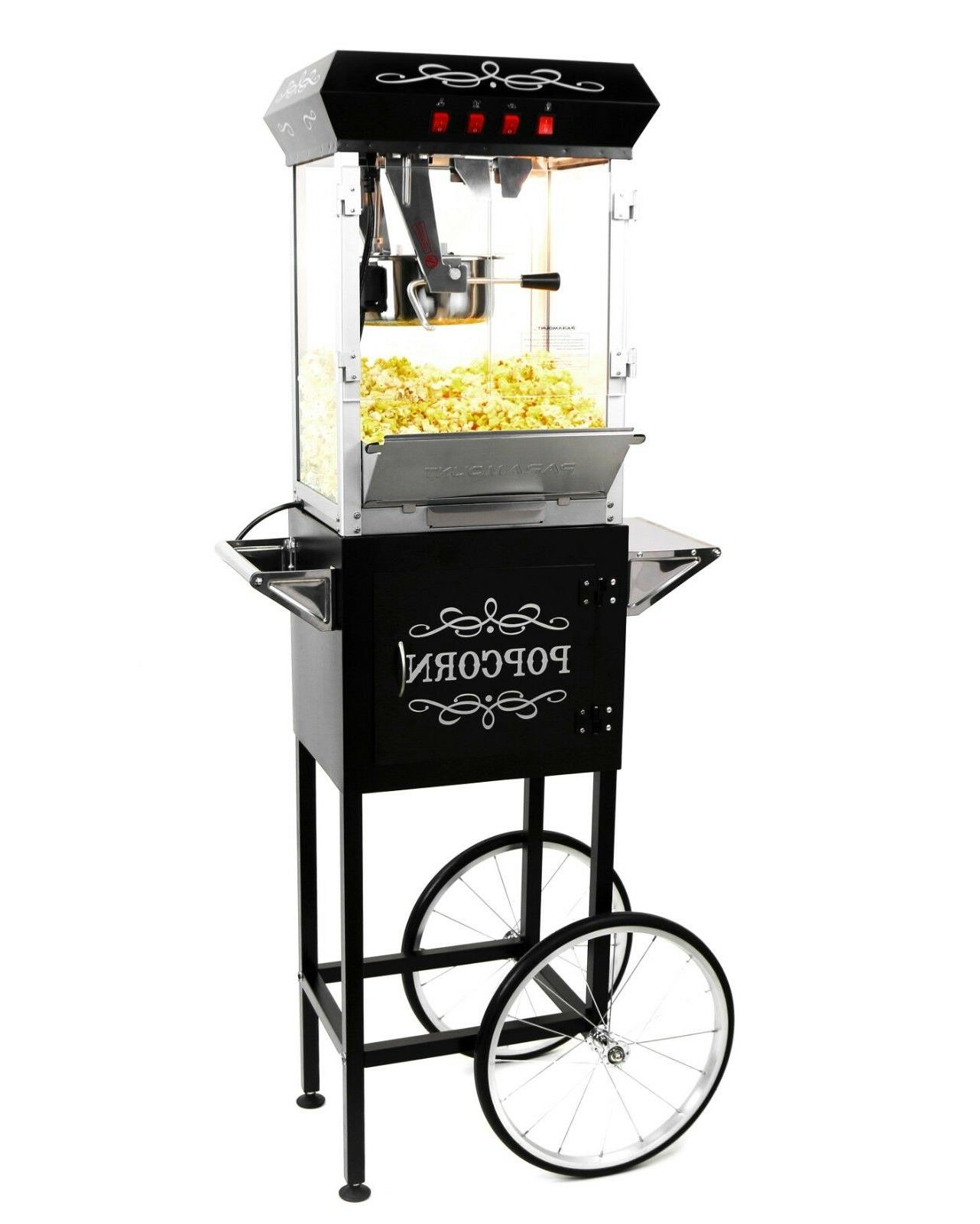 8oz popcorn maker machine and cart new