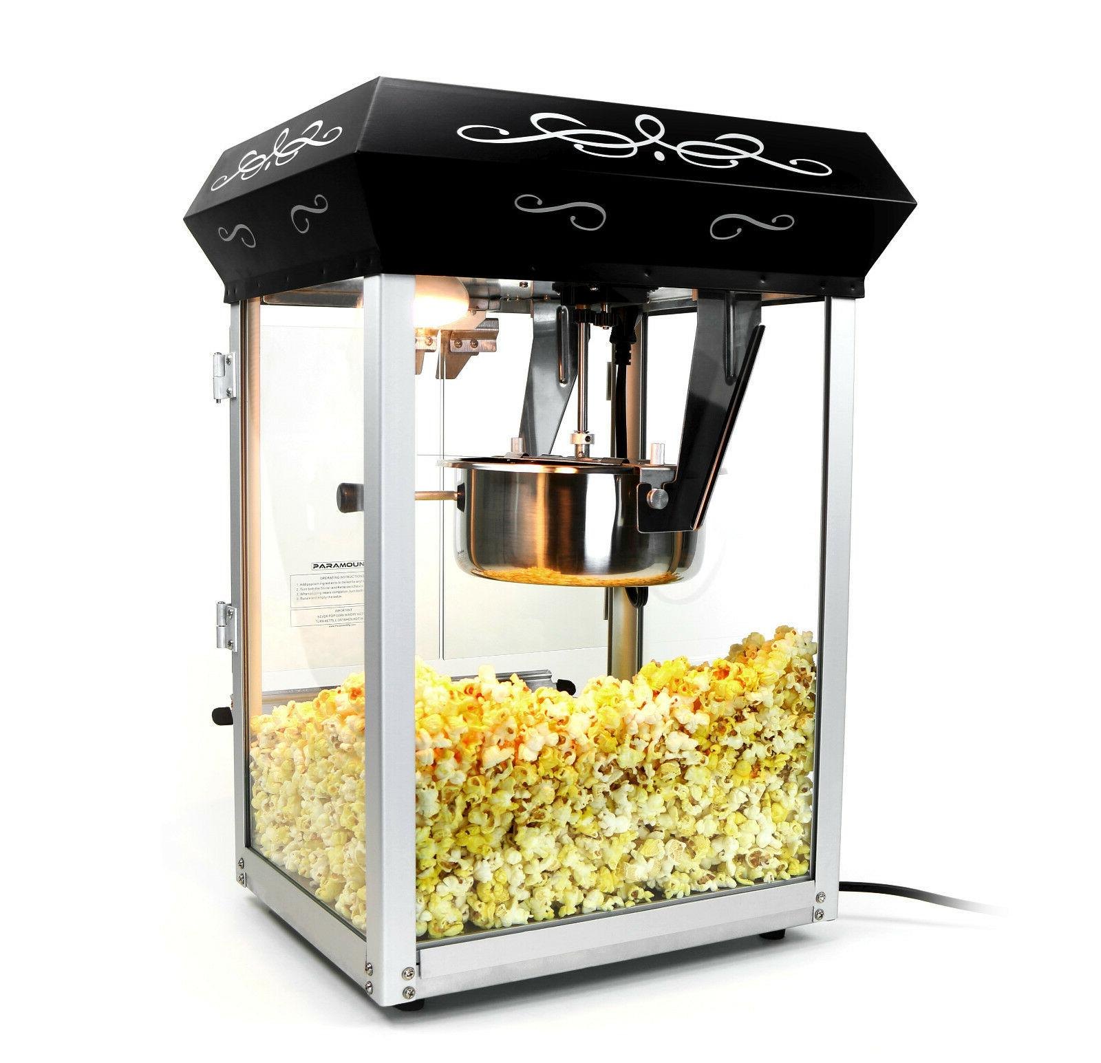 Paramount 8oz Popcorn Machine - 8 Hot Oil Popper