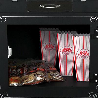 FunTime 8oz Premium Popcorn Popper Machine Cart + Free