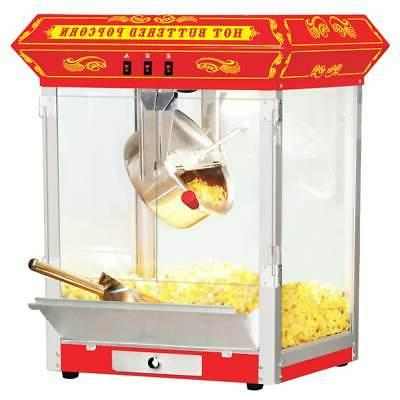 8oz red bar table top popcorn popper