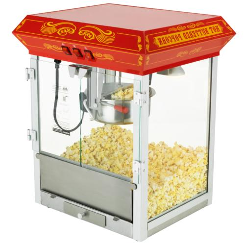 FunTime 8oz Red Bar Table Top Popcorn Popper Maker Machine -