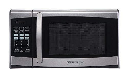 Black + Decker Countertop Microwave 0.9 Cu. Ft. 900W Black S
