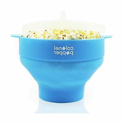 Colonel Popper Microwave Popcorn Maker Air Popper Silicone B