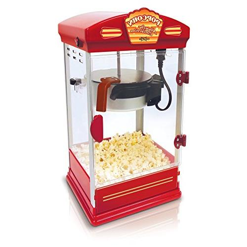 CuiZen CPM-4040 Tabletop Popcorn Popper, 4 Ounce, Red
