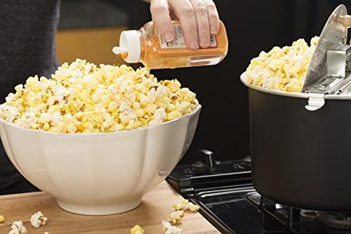 Franklin's Original Whirley Stovetop Popcorn Machine Popper. Delicious Theater Popcorn Organic Popcorn Movies.
