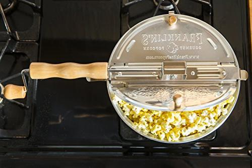 Franklin's Original Pop Stovetop Delicious & Healthy Theater Maker. Organic Popcorn Like the Movies.