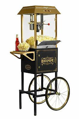 Nostalgia CCP1000BLK Vintage 10-Ounce Commercial Popcorn Car