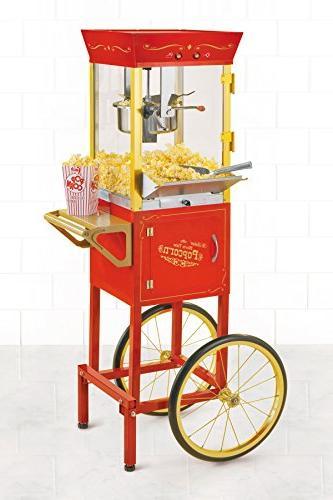 Nostalgia Commercial Popcorn Cart 53 Tall