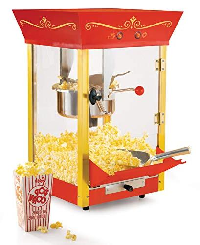 Nostalgia Commercial Popcorn Cart 53 Inches Tall