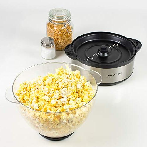 Nostalgia Steel Stirring Popcorn Popper
