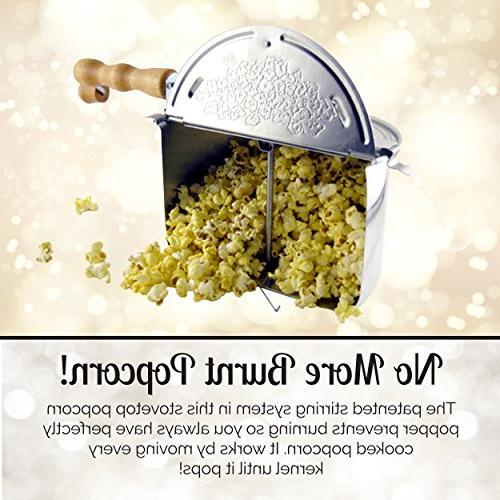 Wabash 22000MG Original Whirley Pop Stove Top Popcorn - Perfect Popcorn in 3 Minutes,