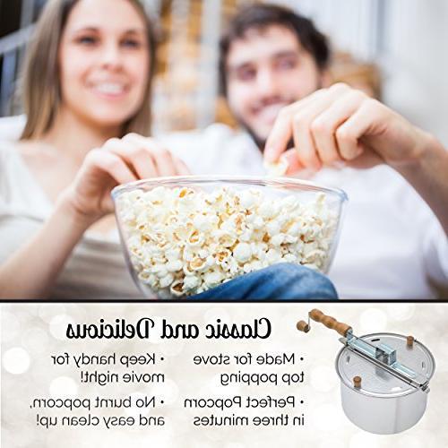 Wabash Valley Farms 22000MG Original Pop Top Popcorn Popper - Popcorn 3 Minutes, Regular