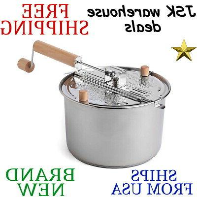 Wabash Valley Farms Whirley Pop Stovetop Popcorn Popper with