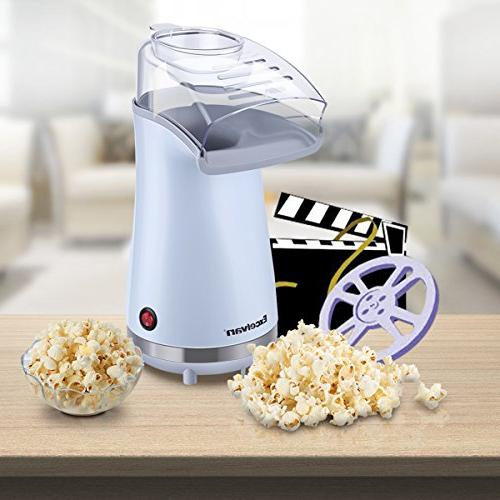 Excelvan Hot Air Popper 16 Cups of Popcorn, with Cup Removable Lid