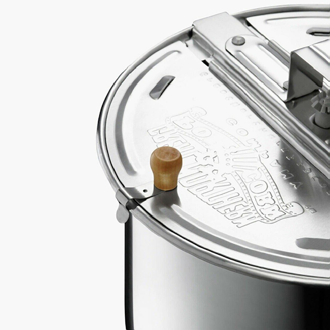 Aluminum Original Spinner Stovetop 6 Quart Popcorn Popper