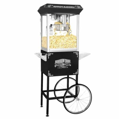 "Great Northern Company ""Lincoln"" Popcorn Machine and Black"