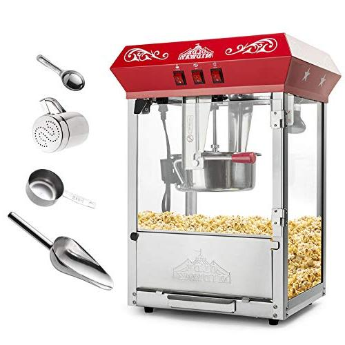Olde Bar Style Popcorn with 8-Ounce Kettle Red