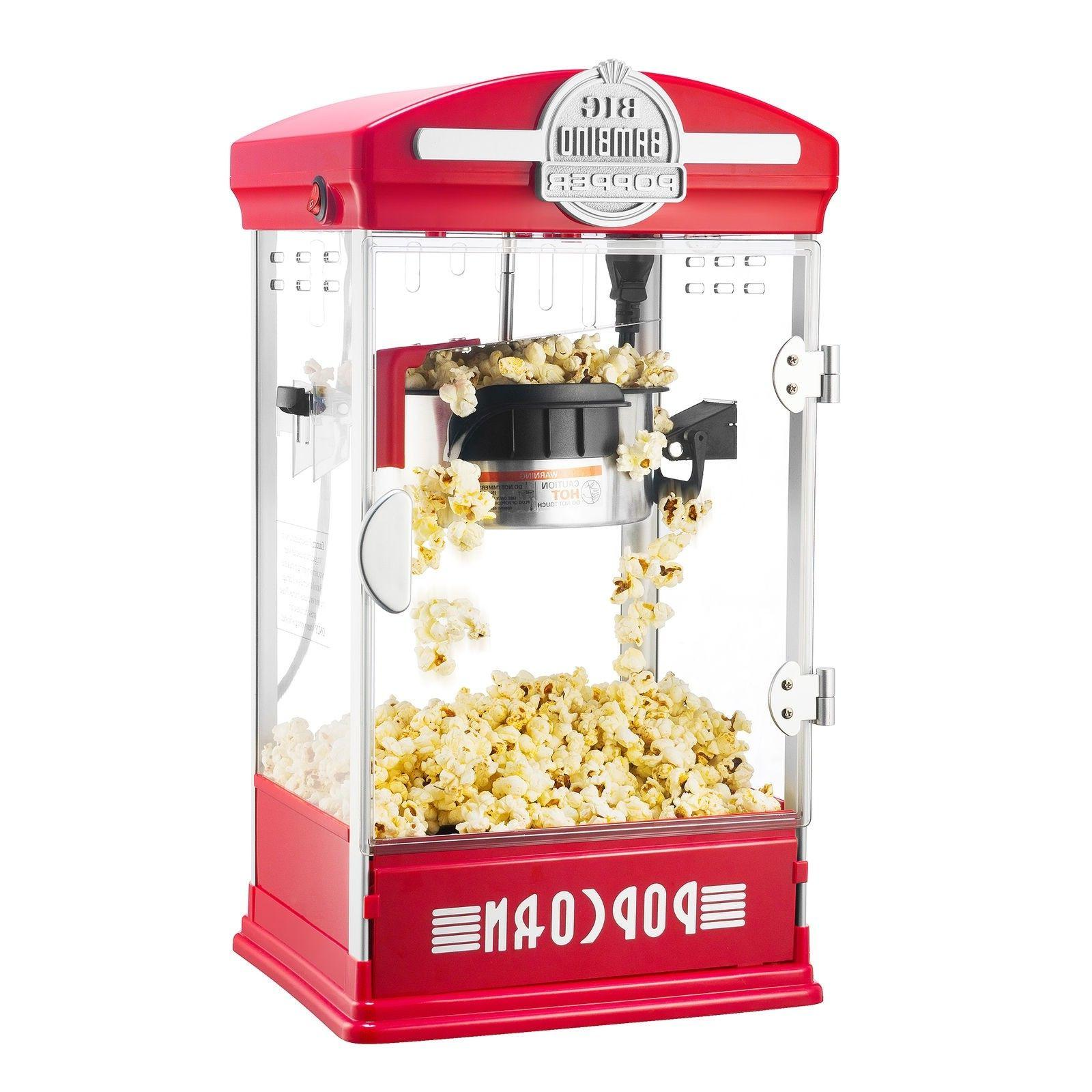 big bambino table top retro popcorn popper