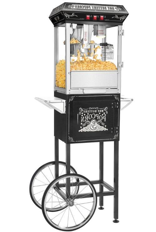 black 8 ounce popcorn popper machine self